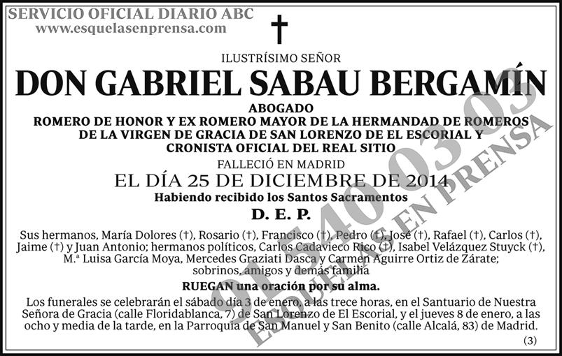 Gabriel Sabau Bergamín